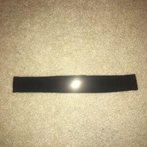 Black Lulu Lemon Thin Headband